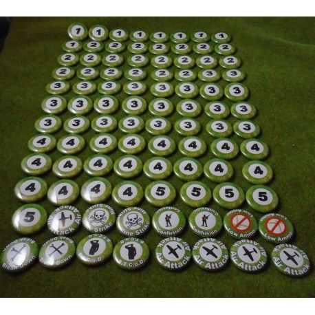 Battlegroup compatible base marker set